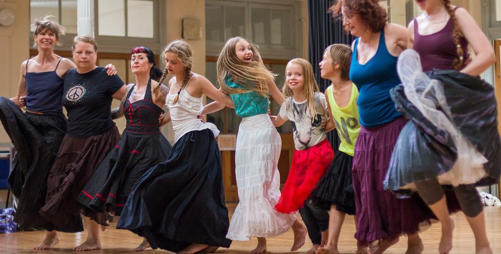 Having fun at a dance workshop