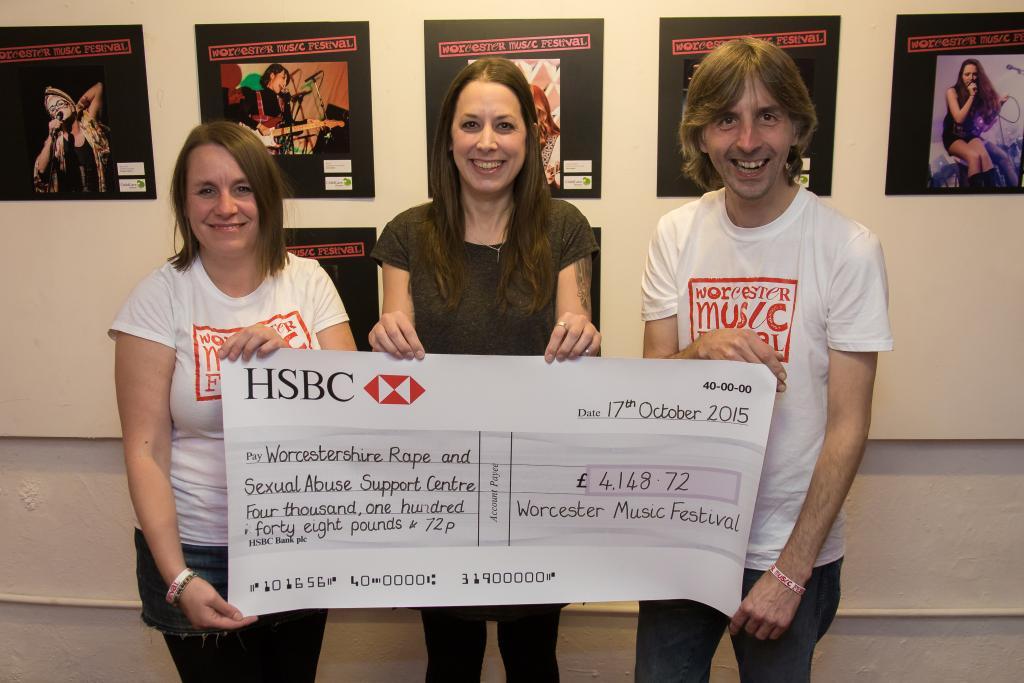 Left to right: Nikki Boraston, Siân Patterson and Ant Robbins