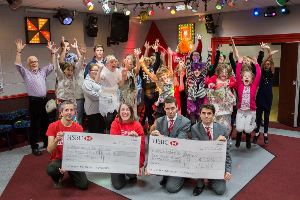 2014 Charity Cheque Presentation with HSBC and Worcestershire Young Carers
